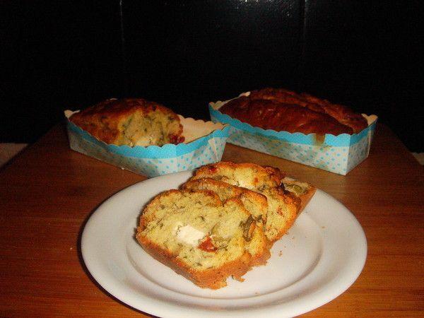 cake aux olive, capres,tomate confite et sauge