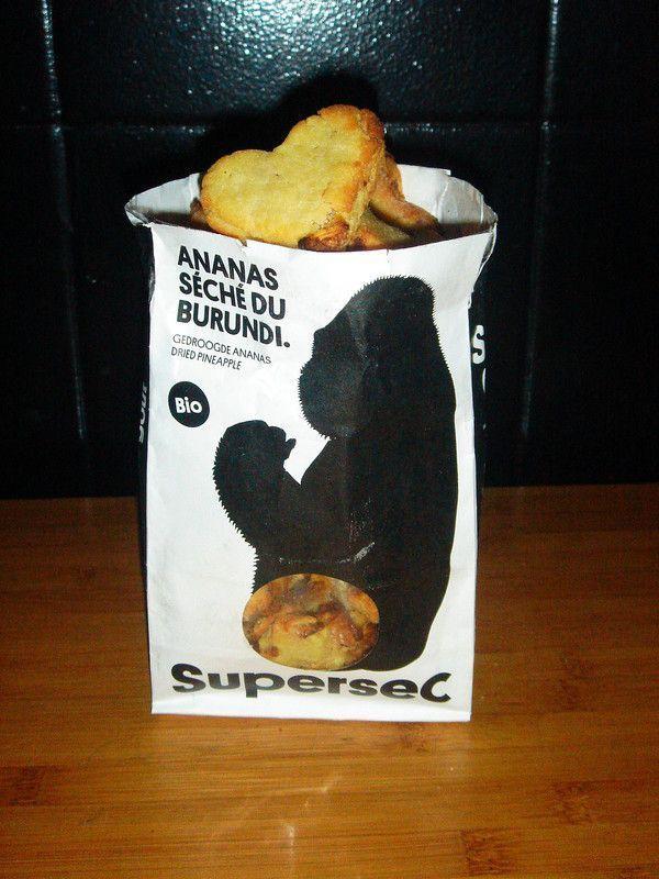 Biscuits à huile d'olive et ananas séché de SUPERSEC