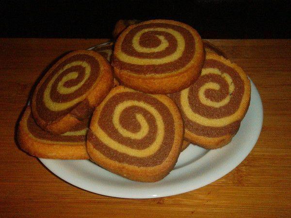 Sablé spiral vanille et chocolat