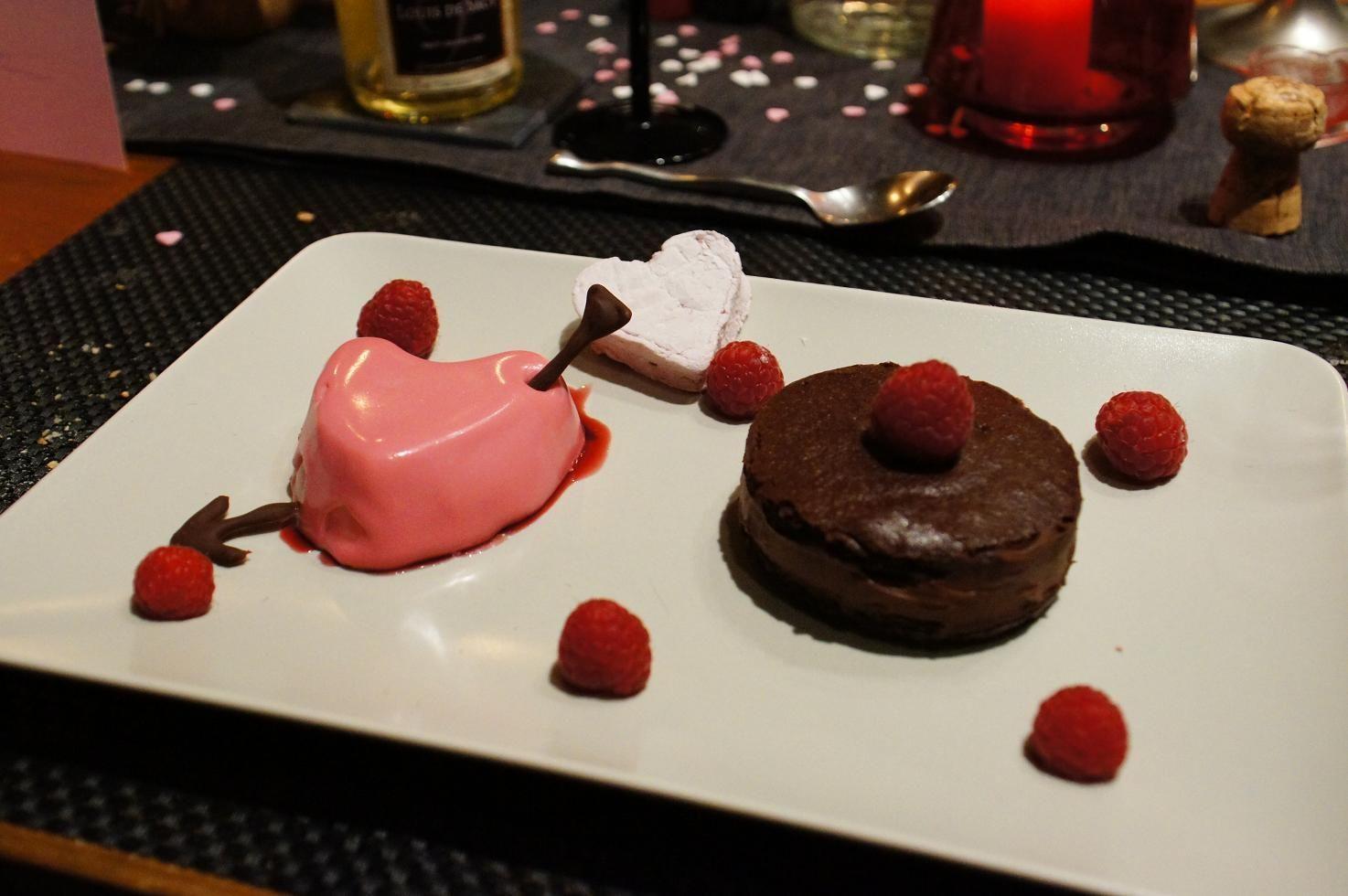dessert de la st valentin